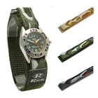 Ravel Boys Watch Kids Camo Design Hook & Loop Strap Choice of Green, Grey, Khaki