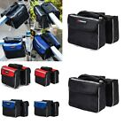 Bicycle Mount Bike Cycling Outdoor Riding Front Tube Pouch Double Bags Pannier