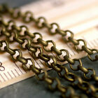 10ft Antique Bronze Plated Vintaged Round Link Rolo Chains 3.2mm c208 PICK