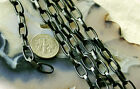 6ft Anodized Black  Plated Aluminum Link Chains 11x6 mm c42 PICK