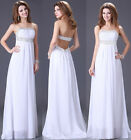 UK FAST Wedding Formal Evening Prom Gown Party Bridesmaid Long Maxi Dresses Plus