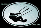 VRS OVAL Kitesurfing Leaning Kite Surf Board Surfing CAR DECAL METAL STICKER