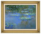 Framed Canvas Giclee Art Print Claude Monet Water Lilies Botanical Repro Picture