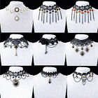 CHIC NEW Handmade Gothic Steampunk Lace Flower Choker Necklace Palace Jewellery