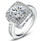 Jewelry Fashion Rings Size 6/7/8/9/10 White Crystal 10K Womens White Gold Filled