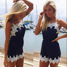 2015 New Sexy Womens Lace Playsuit Party Evening Summer Jumpsuit Short Romper