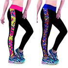 Women Fashion Floral Running Yoga Sports Leggings Soft Pants Long Size M/L