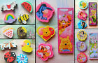 NOVELTY SHAPED ERASERS RUBBERS DISNEY SPIDERMAN MINNIE TINKERBELL HELLO KITTY
