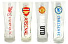 Premier League Football: Pilsner / Tulip Pint Glass - New In Pack MUFC/AFC/LFC
