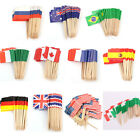 50pcs Paper Mini Birthday Party Flag Cupcake Topper Food Picks Cake Decoration