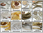 Curved Tube Noodle Metal Beads 8 Choose Size and Color