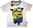 New MINIONS white short sleeve summer cotton t-shirt S-XL Age 4-8 yrs Free Ship