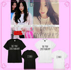 KPOP SNSD T-Shirt Girls' Generation Taeyeon Do You Instagram Tshirt Unisex Tee