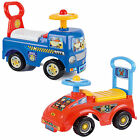 Childs Toddler Ride On Car Push Along Fire Engine Police Truck Toy Storage Box
