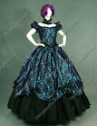 Southern Belle Victorian Dress Period Ball Gown Reenactment Clothing Cosplay 323
