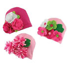 Mud Pie Baby KNIT CAP WITH FELT FLOWERS 167685 Little Sprout Collection
