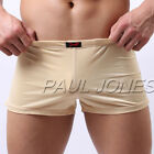 80% Polyamide + 20% Mens Underwear Boxer Briefs Trunks Short Penis Pouch 2XL- M