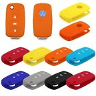 Silicone Car Auto Remote Key Cover Case For Volkswagen VW Series Golf POLO Skoda
