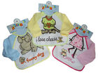 Pair of Baby Bibs with Sleeves 2 sizes 6-12m 12-18m 3 colours choices