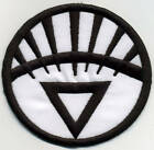 """5"""" White Lantern Corps Classic Style Embroidered Iron-on Patch"""