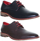 12366 Justin Reece Mens Super Soft Leather Lace up Casual smart derby shoe