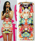 Ladies Floral Pattern Sleeveless Casual Party Evening Cocktail Mini Dress CALO