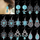 Fashion Jewelry Lots of Dangle Drop Earrings Bohemian Style Turquoise Crystal