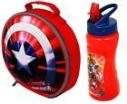 OFFICIAL MARVEL AVENGERS CAPTAIN AMERICA SHIELD LUNCH BAG CAN OR SET SCHOOL KIDS