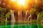 Waterfall Beautiful Landscape Peaceful Image Canvas Pictures Wall Artwork Prints