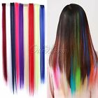 5Pcs Women Multi Color Full Long Straight Synthetic Head Clip in Hair Extensions
