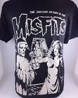 BLK MISFITS THE SHOCKING RETURN DANZIG PUNK ROCKABILLY MEN'S T-SHIRT