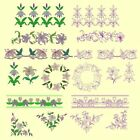 Lovely Lilies Machine Embroidery & Redwork Designs- 26Anemone Embroidery Designs