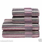 Christy Supreme Hygro Bathroom Towels 650 gsm 100% Cotton Stripe Berry