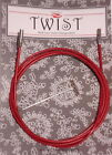ChiaoGoo Twist Red Cable With Lifeline Holes Small or Large Tips 20cm - 125cm