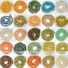 Strand 4-9mm Fresh Water Pearl Loose Charm Beads For Necklace Jewelry Making DIY