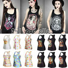 Sexy Women 3D Graphic Print Tank Top Punk Vest Summer Rock T-shirt Blouse Casual