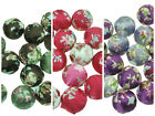 20 x Floral Fabric / Woven Cloth Beads, 20mm Round ~ Mix