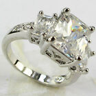 Lady/Women's  Silver Filled  White Sapphire Wedding Ring Gift size 6-10
