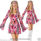 K68 60s 70s Go Go Retro Hippie Dancing Groovy Hippy Disco Fancy Dress Up Costume