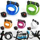 Cycle Bike Bicycle 4 Digit Combination Pad Lock Steel Spiral Cable Security N4U8