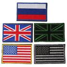 New National Flag Emblem Patch Armband Velcro Backside Military Tactical Patch Z