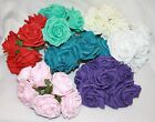 6 - 72  large open head foam roses wedding bouquet flowers various colours