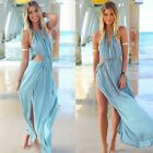 Women Summer Sleeveless Boho Long Maxi Party Beach Bikini Cover Up Chiffon Dress