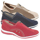 Womens Girls Ladies Zip/Elastic Gusset  Comfortable Leisure Casual Shoes 3-9
