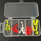 TB Hot Durable 25 Pcs Lot Fishing Jig Head Hooks with Plastic Box US1