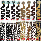 "20"" Micro Ring Easy Loop Tip Remy Real Human Hair Extensions weave Wavy 100s 80g"