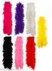 FEATHER BOA SHOWGIRL FLUFFY BURLESQUE HEN NIGHT DANCE SOFT FANCY OUTFIT 150CM