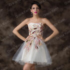 SUMMER CHEAP Ball Peacock Bridesmaid Cocktail Evening Party Prom MINI Dress Plus