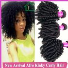 3 Bundles/150g Unprocessed Hair Virgin Brazilian Afro Kinky Curly Hair Weaves