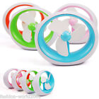 New Office Home Mini Portable USB or Battery Powered Soft Fan Blade Cooling Fan